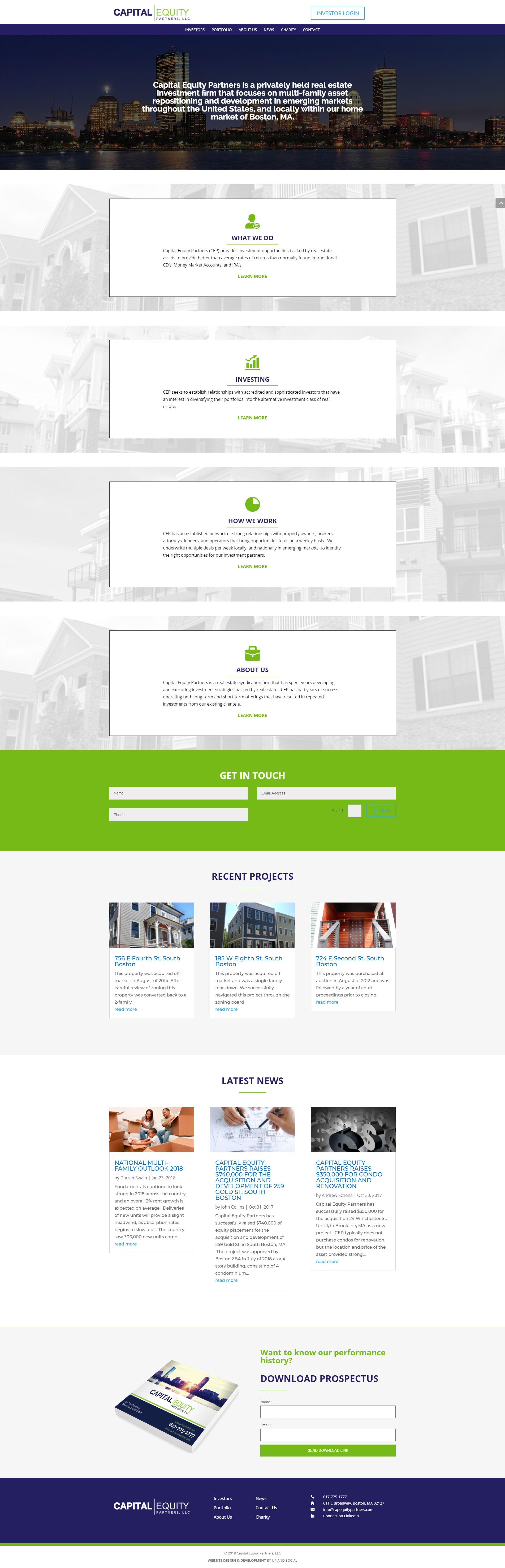 Investment Company Web Design