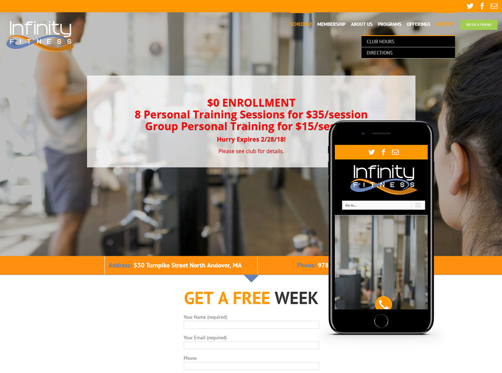 Fitness Center Web Design