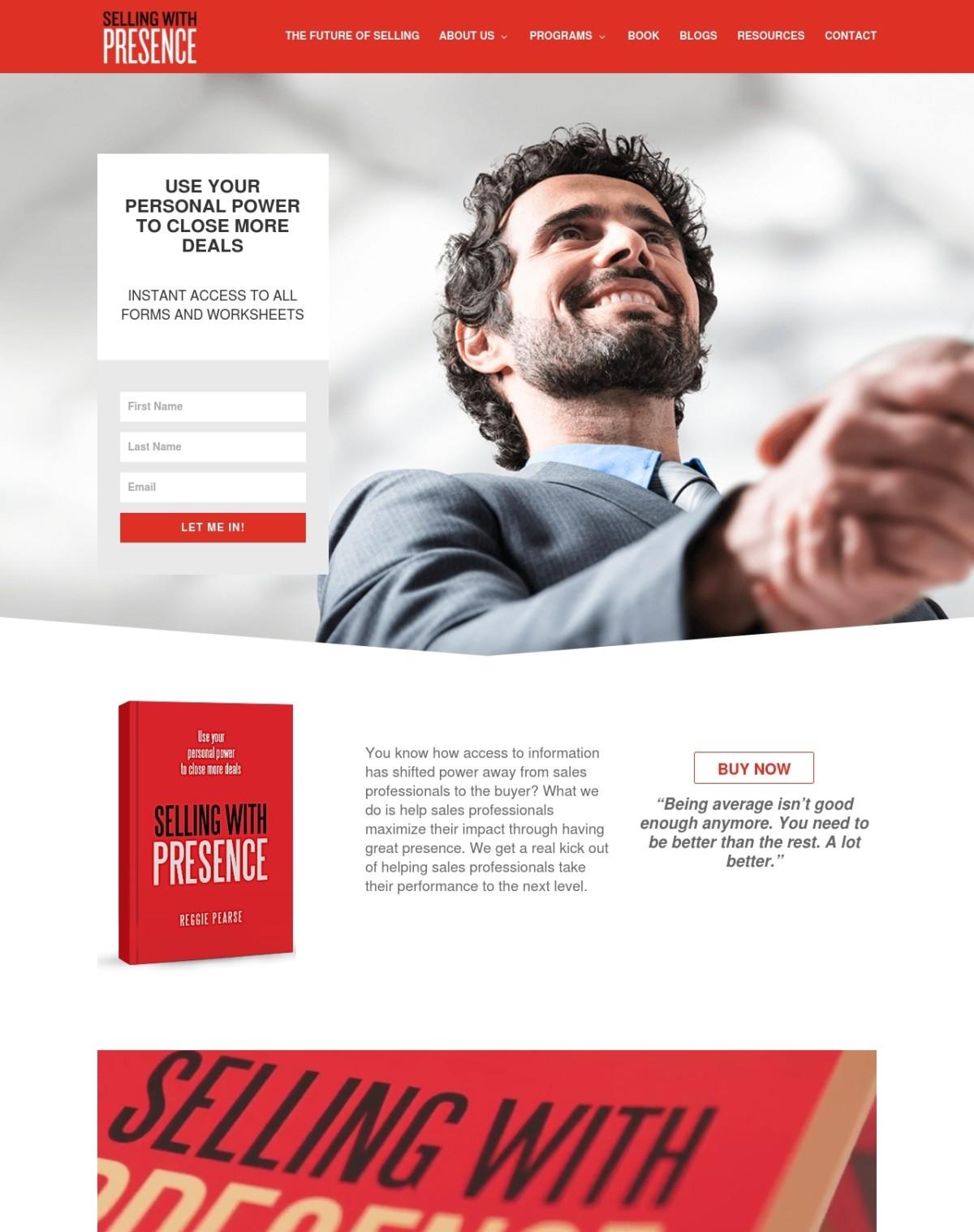 Consulting company web design
