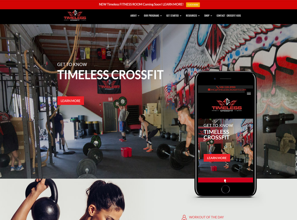 Web Design for fitness