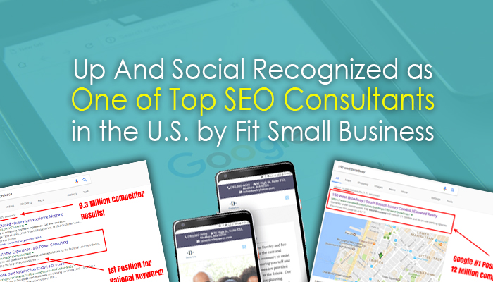 Up And Social Recognized as One of Top SEO Consultants in the U.S. by Fit Small Business