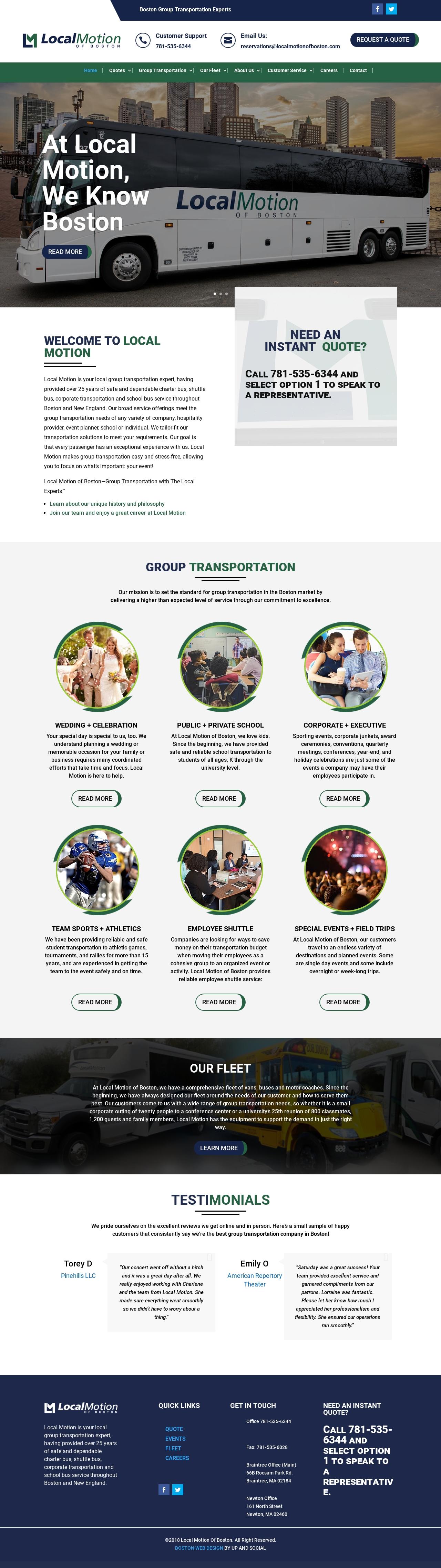 Transportation Company Website Design