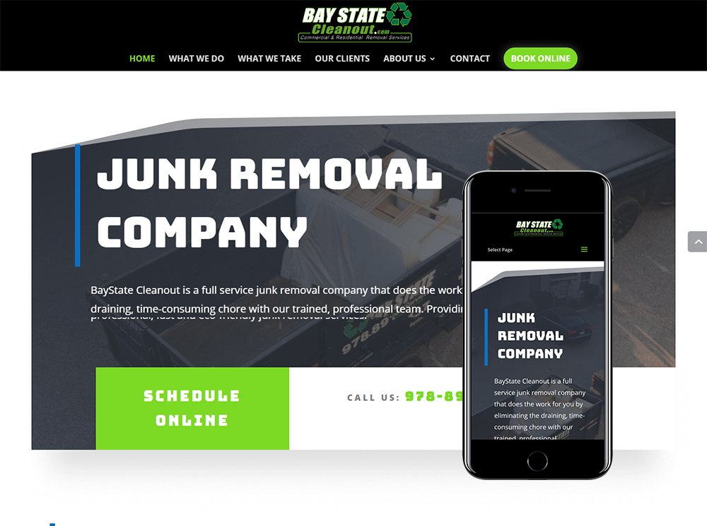 Junk Removal Web Design