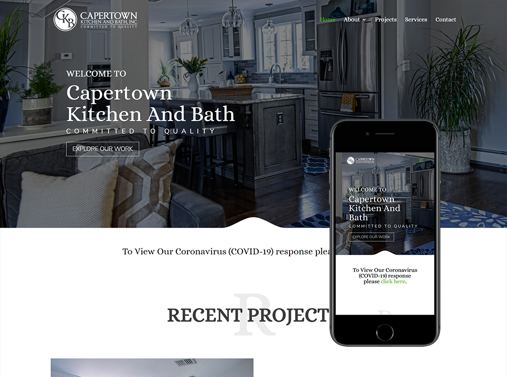 Kitchen Website Design