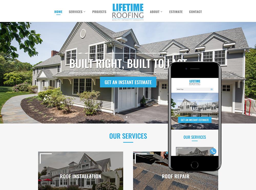 boston web design for roofing company