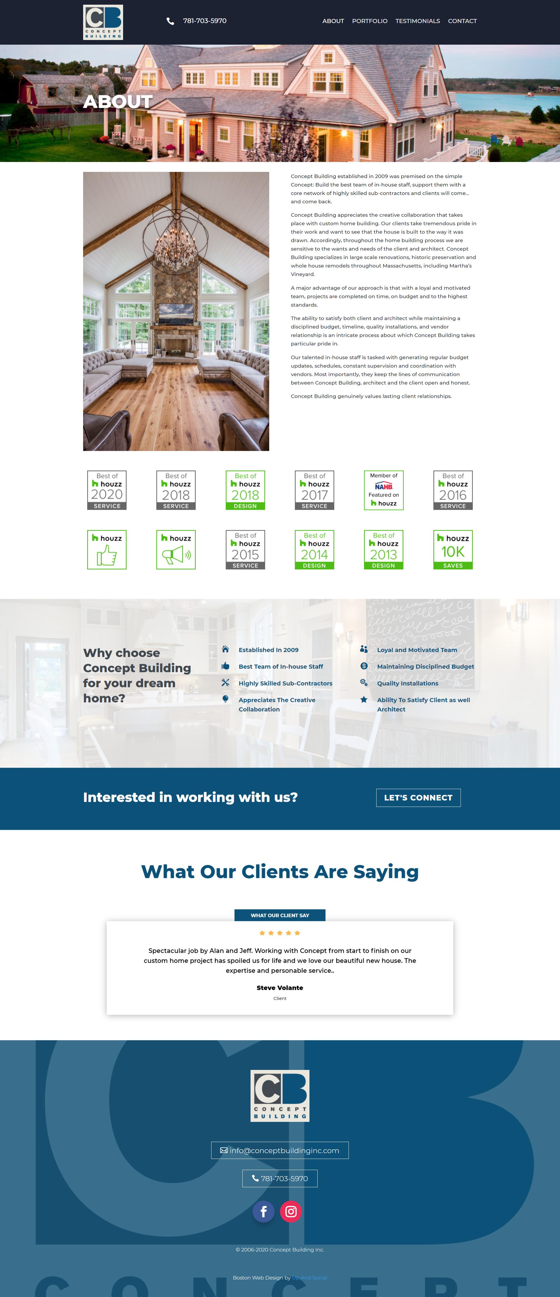 roofing company custom web design boston